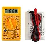 Fangfeen Probador de circuitos DC DC Voltaje LCD Digital DT-830B multímetro Manual Voltímetro ohmímetro del amperímetro AC Inspector Ohm