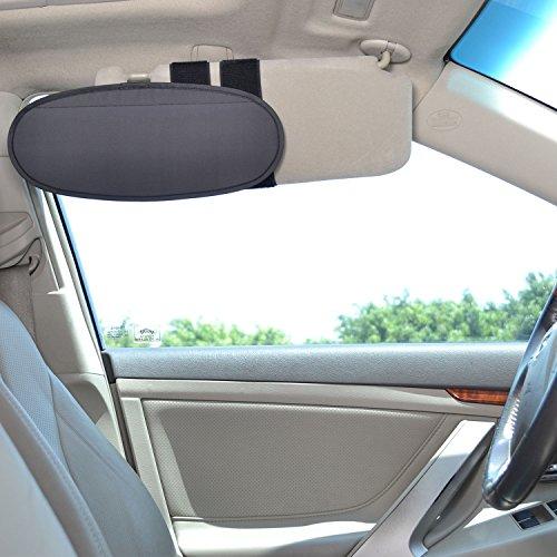 TFY Visera Parasol Extensible para el espejo del coche, Anti Reflejo, Antideslumbrante.Protector Solar para Coches, Furgonetas y Camiones
