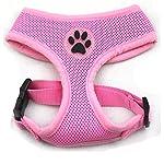 PUPTECK Soft Mesh Adjustable Pet Walking Harness for Dogs Pink Large 2