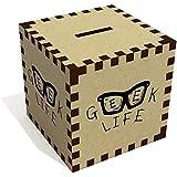 Azeeda 'Geek Life' Tirelire en Bois (MB00043819)