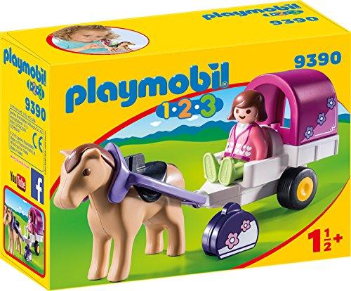 Playmobil- 1.2.3 Carruaje de Caballos Juguete