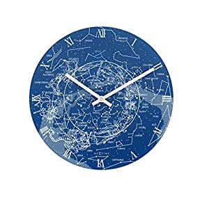 Nextime Milky Way Glow in the Dark Glass Wall Clock