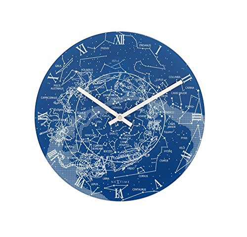 nextime-milky-way-glow-in-the-dark-glass-wall-clock