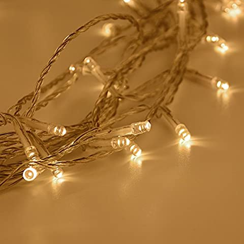 Fairy Lights, Syhonic 10M 80 Warm White LEDs Battery Fairy String Lights Indoor Starry Lights for Bedroom Outdoor Garden Wedding Party Christmas