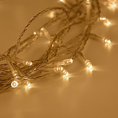 Fairy Lights, Syhonic 10M 80 Warm White LEDs Battery Fairy String Lights Indoor Starry Lights for Bedroom Outdoor Garden Wedding Party Christmas Decoration