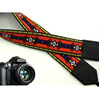 intepro Ethnic Kameragurt. Azteken Kameragurt. Schwarz Tribal Kameragurt. Colorful indischen Kameragurt. DSLR/SLR Kamera Gurt. Robust, leichtes und gut gepolstert Kamera Strap. Code 00038