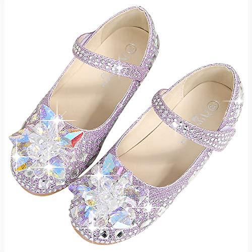 FStory&Winyee Mädchen Prinzessin Schuhe Kinder Cinderella Sandalen Partei Glitzer Kristall Schuhe Mädchen Kostüm Zubehör Karneval Verkleidung Party Aufführung Fasching Tanzball Groß 22-36 3-11 Jahre