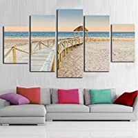 OLAJSDD 5 pcs beach wall corridor for living room Modular paintings home art Wall Decor Pictures poster (no frame)