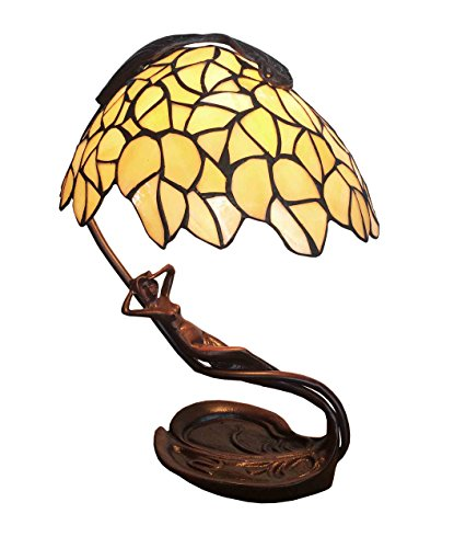 Tiffany Leuchte Jugendstil Lampe Sonnenanbeterin 41cm