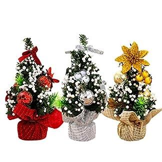20cm Árboles de navidad Adorno Decoración de Mesa Hogar / 3 Colors,Longra (Oro)