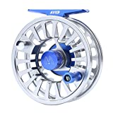 Maxcatch Avid Mulinello con rotella di pesca a mosca in lega di alluminio lavorata a CNC 1/3, 3/4, 5/6, 7/8, 9 / 10wt (nastro, nero, verde, blu) (Modello 03, 5/6 wt)