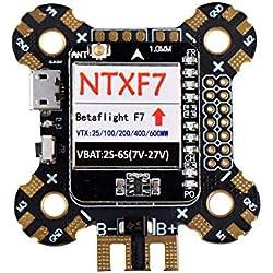 VIDOO Ntxf7 F7 Vuelo Controlador Integrado 600Mw Vtx Pdb Osdbarometer para Carreras De FPV RC Aviones No Tripulados