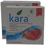 #4: Big Bazaar Combo - Kara Nail Polish Remover Wipes Strawberry, 30N (Pack of 2) Promo Pack