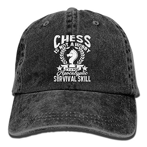 Wfispiy Chess is Not A Hobby Apocalyptic Survival Skill Denim Hat Adjust Baseball Cap X1693
