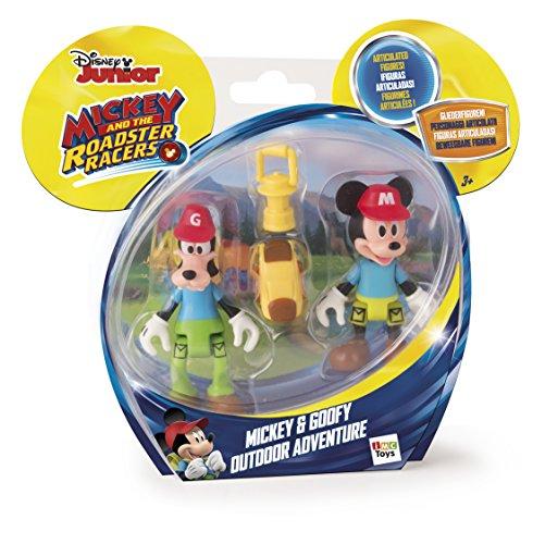 IMC Toys- Mouse Disney Juguete Aventura al Aire Libre con figurinas de Mickey y Goofy, (181878)