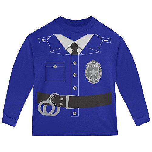 Halloween Polizei Polizist Kostüm Kleinkind Langarm T-Shirt Royal Kleinkind Größe 5/6