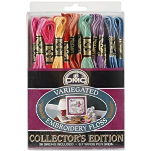 DMC Embroidery Floss Pack 8.7 Yards 36/Pkg-2 Skeins Each Of 18 Variegated Colors