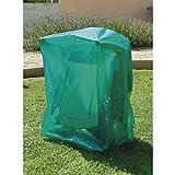 maillesac jp0007Schutzhülle für Gartenliege gefaltet Kunststoff grün transparent 27x 19x 2cm