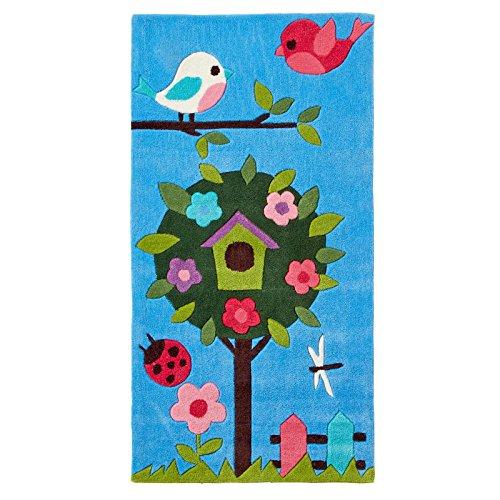 quirky-con-patron-de-colorido-alfombra-infantil-70-x-140-cm-acrilico-azul-70x140cm