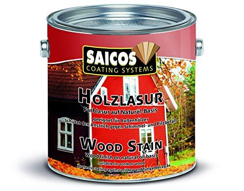 Saicos Colour GmbH 501 0030 Holzlasur, schwedenrot, 2,5 Liter