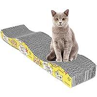 UxradG Rascador para gatos en forma de S para mascotas con alfombrilla para rascar la tabla de rascar, juguete para gato