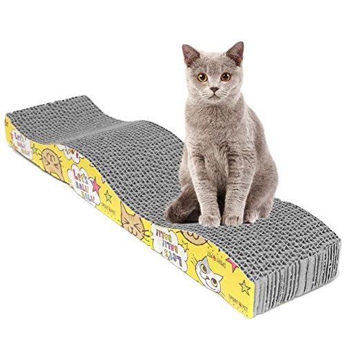 UxradG, tiragraffi a forma di S, tappeto naturale per graffiare, per gatti