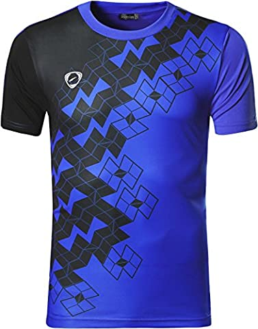 jeansian Homme De Sport Outdoor Quick Dry Short Sleeved Men's Tee Tops T-Shirt LSL111_Blue_S(M)