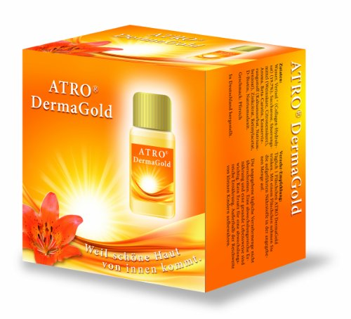 ATRO DermaGold, 1-Monatspackung (30 x 12 ml), Beauty Drink mit VERISOL Schönheits Collagen - Drink Beauty