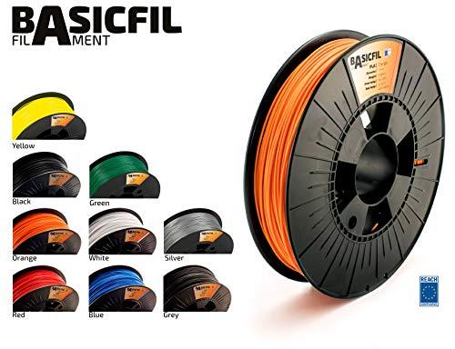 BASICFIL PLA 1.75mm, 500 gr filamento impresión 3D