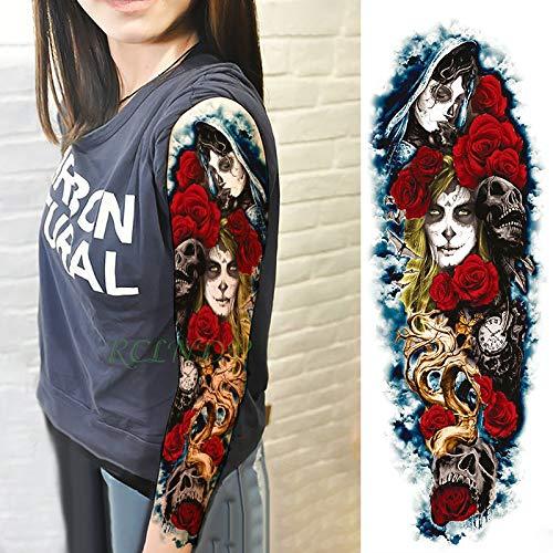5 unids Impermeable tatoo Tattoo Sticker payaso cráneo