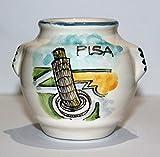 Tonkrug von Pisa-Tonkrug Keramik turm von Pisa, Handarbeit, Größe cm 7x7 cm Made in ITALIEN, Toskana, Lucca, zertifiziert.Erstellt von Davide Pacini