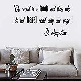 pegatinas de pared buhos pegatinas de pared mariposas El mundo es un libro y aquellos que no viajan, lean solo una página para la agencia de viajes