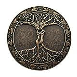 YONE Hebilla de cinturón Tree Of Life Belt Buckle Marrón