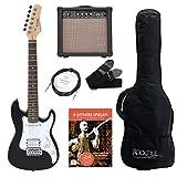 Rocktile Sphere Junior Guitare Eléctrique Noir SET 3/4 avec ampli, cable et sangle