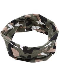 Haarband Camouflage Braun Blau Grau Grün Neu