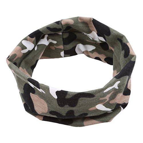 EJY Camouflage Elastische Baumwolle Stirnband Haarband Kopfband (Grün) - Camouflage Stirnband