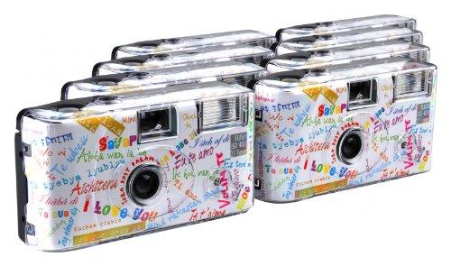TopShot I mog di Einwegkamera (27 Fotos, Blitz, 8-er Pack) weiß