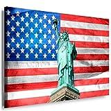 Freiheitsstatue Leinwandbild LaraArt Bilder Wanddeko Wandbild 150 x 100 cm