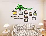 Alicemall 3D Wall Stickers Photo Frames Family Wall Decal Easy to Install &Apply DIY Photo Gallery Frame Decor Sticker Home Art Decor (photo frame 2)