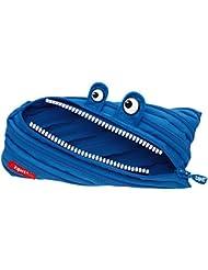 Wedo Trousse 2425138903Monster en polyester fermeture éclair, 22x 2x 9cm, bleu