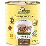 6 x GranataPet Lieblingsmahlzeit Geflügel&italienischer Schinken, Mangold, Ananas und Lachsöl 800 g, Nassfutter, Hundefutter