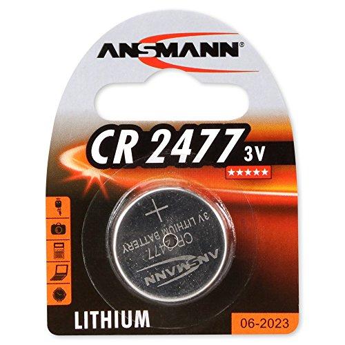 2er Set: ANSMANN 1516-0010 Knofpzelle Batterie Lithium CR 2477-3V
