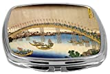 Rikki Knight Compact Mirror, Katsushika Hokusai Art Tenma Bridge, 3 Ounce Amazon