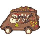 Schokoladen Weihnachtsmann im Bus, 6 Stück je 100g, Größe: 135x95 mm
