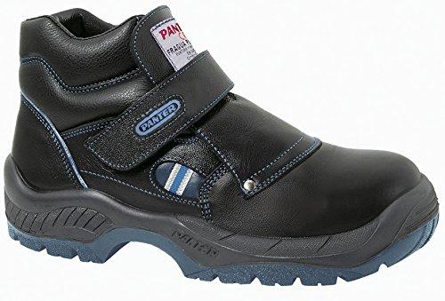 Panter 414101700–battuto Velcro Plus S2Nero PU/TPU, taglia: 36