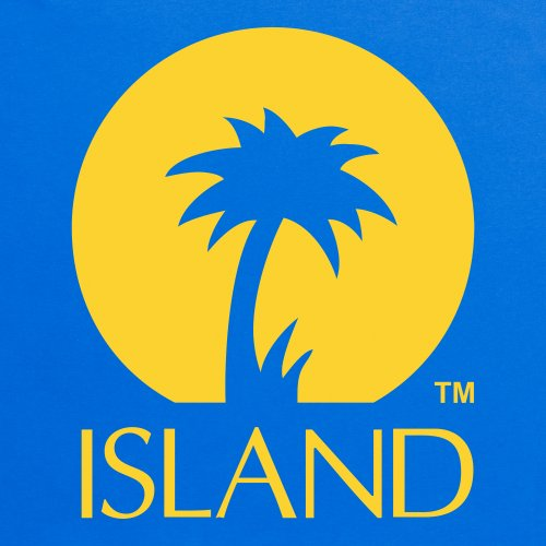Official Island Records Logo One T-shirt, Uomo Blu royal