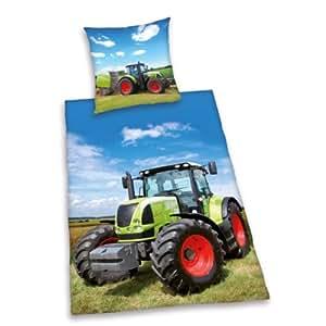 herding 465192050 parure de lit tracteur taie d 39 oreiller 80 x 80 cm et housse de couette 135 x. Black Bedroom Furniture Sets. Home Design Ideas