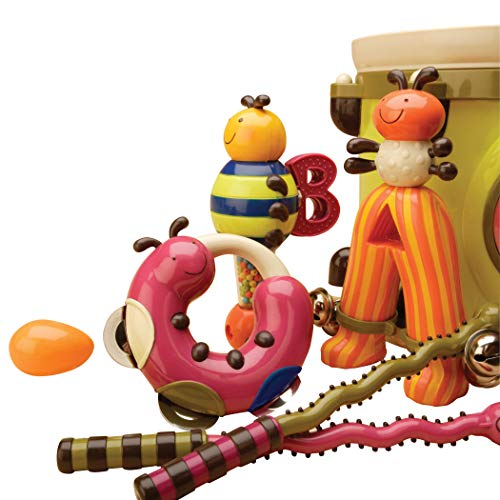 B toys – Parum Pum Pum – Toy Drum Kit with 7 Musical Instruments for Kids 18 months + (7-Pcs)