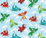 Dragons & Knights Stoff - 50 cm x 110 cm - Dragonheart