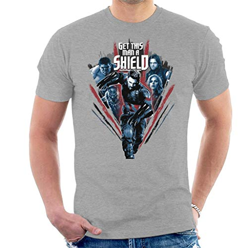 nity War Captain America Get This Man A Shield Men's T-Shirt ()